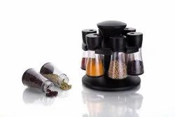 Multipurpose Revolving Spice Rack 6 Pieces Masala Box/Condiment Set/Masala Boxes for Kitchen