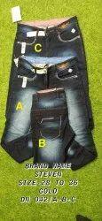 Men Faded Denim Jeans