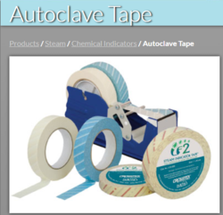 1 Inch CHEMICAL INDICATOR AUTOCLAVE TAPE FOR STEAM
