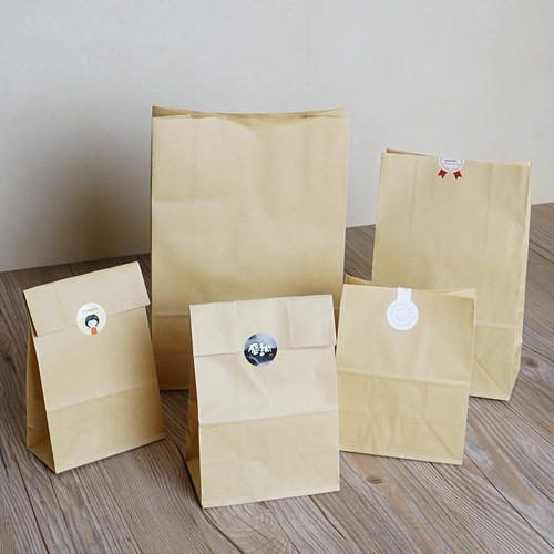 Light Brown Colored Crafted Paper Bags Rs 55 Piece Laser Edge