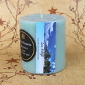 Round Scented Pillar Candle
