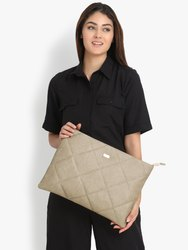 Beige Embridered Laptop Sleeve