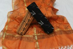 Tridev Febrics 45 Inch Cotton Ladies Suit Material, Machine wash