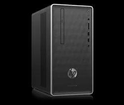Black HP Pavilion 590-p0036in Desktop for Office Use