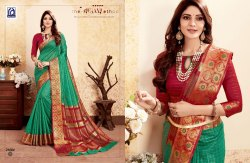 Rachna Banarasi Silk Suhagan Catalog Saree Set For Woman 2