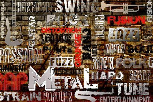 music genres wallpapers: Vinyl Horizontal, Vertical Music Genres Text Graphic