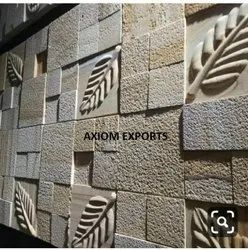 Natural Stone White Designer CNC Wall Tiles, Thickness: 15-20 mm, Size: Large (12 inch x 12 inch)