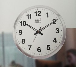 White, Ivory Abs Round Wall Clock