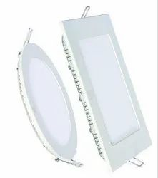 Crystal Ceramic And Plastic 12 W LED Panel Light, Shape: Rectangle And Round