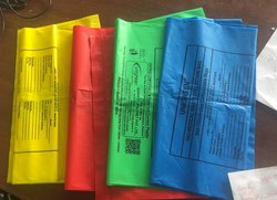 Blue 25 x 30 inch Compostable Printed Garbage Bag