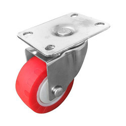 100 x 32mm Brake Type PU Caster Wheel