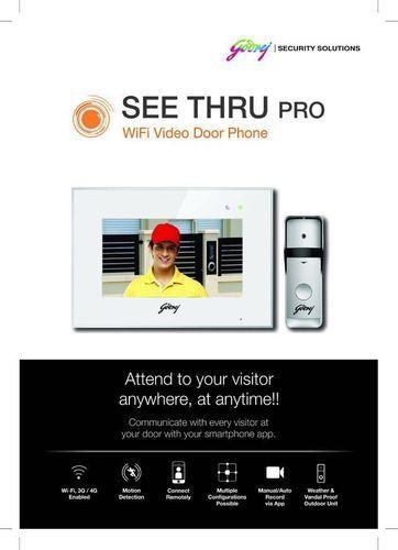 ecfb30fb617 White Godrej See Thru Pro Wifi Video Door Phone, See Thru Pro Wifi 7 ...