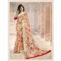 Floral Print Cotton Saree