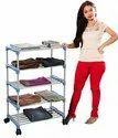 Parasnath Trendy Cloth Shoe Rack with 5 Shelves