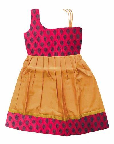 09448b126 Kids Silk Cotton Frocks - Bujuma Pattu Pavadai Manufacturer from ...
