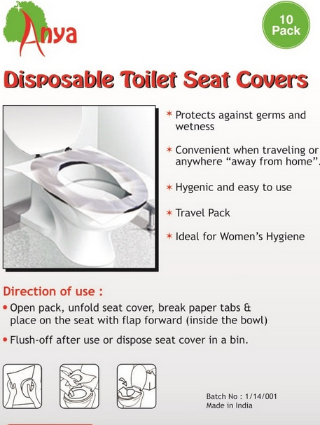 Surprising Anya Disposable Toilet Seat Covers 5 Packs Of 10 Pc Set Bl L Anya Corporation Mumbai Id 19042083233 Gmtry Best Dining Table And Chair Ideas Images Gmtryco
