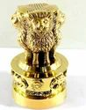 Handicraft Brass Ashok Stambh Emblem India Symbolizing Power, Courage, Pride