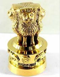 Handicraft Brass Ashok Stambh Emblem India Symbolizing Power, Courage, Pride