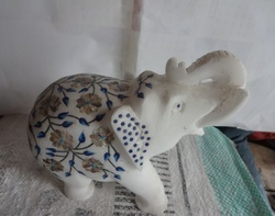 Marble inlay Elephant Home decorations