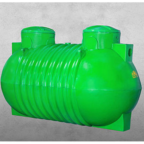 Green Plastic 1500 Ltr Septic Tank, Carris Pipes And Tubes