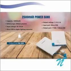 2500 mAh Card Power Bank