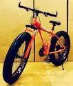 Ferrari Orange Dolphin Fat Tyre Cycle