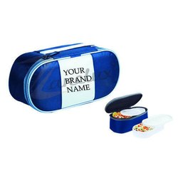 Blue Oval Lunch Box