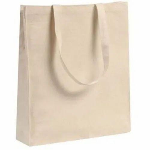 Off-white Cotton Shopping Cloth Bag, Capacity: 1-5 Kg