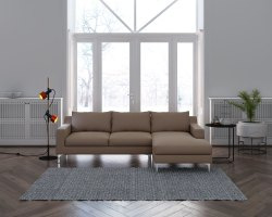 Olive Sectional Sofa Set - Rexine