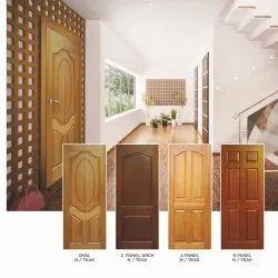 Teak Colour Standard Veneer Molded Panel Door