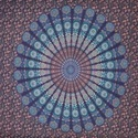 Indian Blue Mandala Peacock Print Duvet Doona Cover