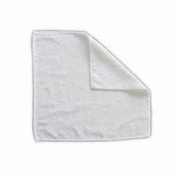 White Plain Cotton Face Towel, Size: 15 x 17 inch