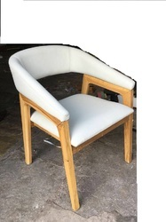Single Brown WOODEN DINING CHAIR