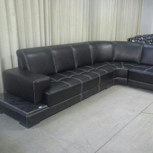 Black L-Shaped Sofa Set at Rs 15000 /seat | Bengaluru | ID: 20104201030