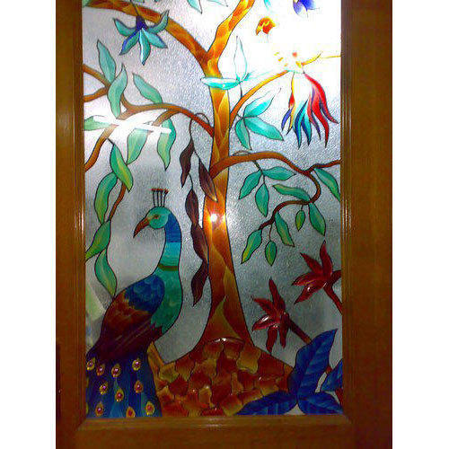 Painted Window Glass Window Glass Shubham Glass House
