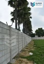 Cement & Concrete Boundary Compound Wall, Height: 5 to 10 feet
