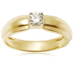 Designer Diamond And Gold Ring