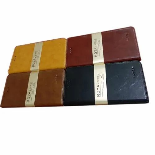 Designer Leather Mobile Flip Cover, Size: 5.5 Inch, For Mobile Protection