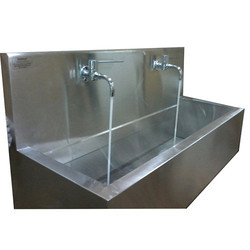 2 Bay Wall Mounted Scrub Sink