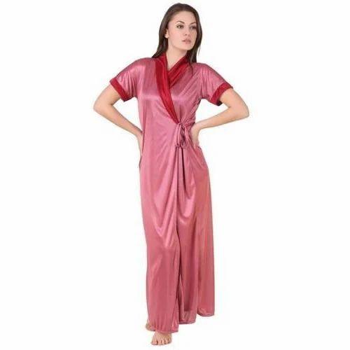 Plain Long Satin Robe 02a6b01a8