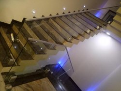 Aluminum Staircase Glass Railing