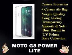 Silicon Moto G8 Power Lite Transparent Mobile Back Cover