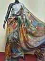 Digital Printed Pure Katan Bishnupuri Silk Saree