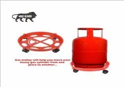 Plastic Gas Cylinder Trolley With Wheels - Gas