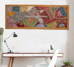 Stylo Culture Length-60 x Width-24 Inches Beaded Patchwork Wall Hanging