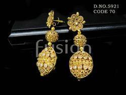Indian Designer Lct Stone Earring