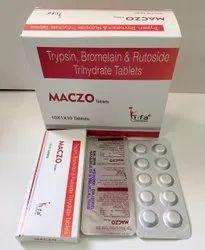 Trypsin 48mg, Bromelain 90mg, Rutoside Trihydrate Tablet