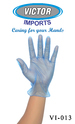Vinyl Powder Free Examination Hand Gloves Blue