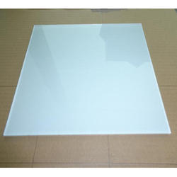 White Back Painted Glass