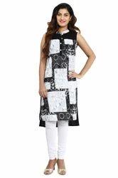 Fashionable Sleeveless Kurti